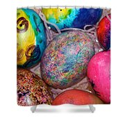 Basket Case Shower Curtain