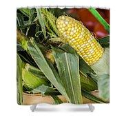 Basket Farmers Market Corn Shower Curtain