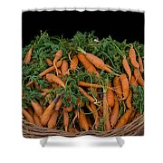 Basket Of Carrots Shower Curtain