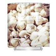 Basket Of Garlic Shower Curtain