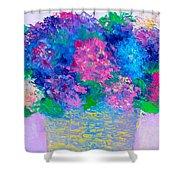 Basket Of Hydrangeas Shower Curtain