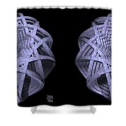 Basket Of Hyperbolae - Stereogram Shower Curtain
