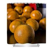 Basket Of Oranges Shower Curtain by Jeff Burton