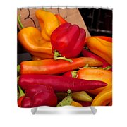 Basket Of Peppers Shower Curtain