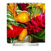 Basket Of Tropic Shower Curtain