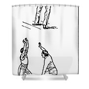 Basketball, 1893 Shower Curtain