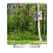 Basketball Forest Court Shower Curtain