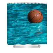 Basketball In The Pool  Shower Curtain