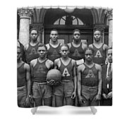 Basketball Team Portrait Shower Curtain