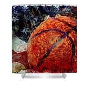 Basketball Usa Shower Curtain by David G Paul