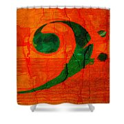 Bass Distressed Shower Curtain