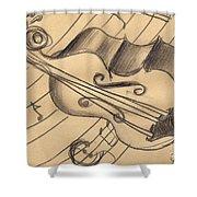 Bass Doodle Shower Curtain