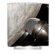 Bass Drum And Mic Shower Curtain