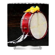 Bass Drum At Parade Shower Curtain