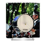 Bass Drums On Parade Shower Curtain