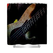 Bass Guitar Shower Curtain