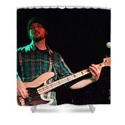 Bass Guitar Musician Shower Curtain