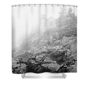 Bass Harbor Head Light In Fog Shower Curtain