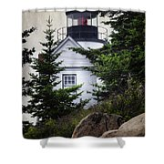 Bass Harbor Head Light Shower Curtain