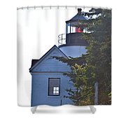 Bass Harbor Headlight Shower Curtain