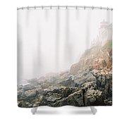 Bass Harbor In Fog Shower Curtain
