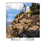 Bass Harbor Lighthouse Shower Curtain