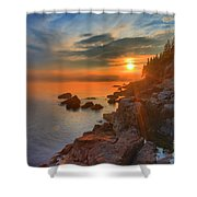 Bass Harbor Sunset Shower Curtain
