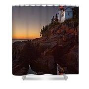 Bass Head Harbor Lighthouse Shower Curtain