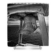 Bass Head Lighthouse Bell Shower Curtain