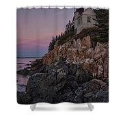 Bass Head Lighthouse Sunrise Shower Curtain