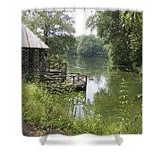 Bass Pond Biltmore Estate Shower Curtain