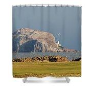 Bass Rock Scotland Shower Curtain