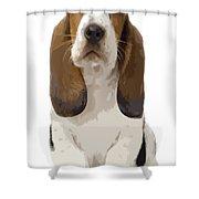 Basset Hound Puppy Shower Curtain