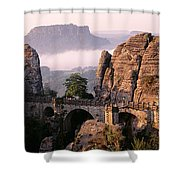 Bastei, Saxonian Switzerland National Shower Curtain