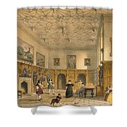 Bat Game In The Grand Hall, Parham Shower Curtain