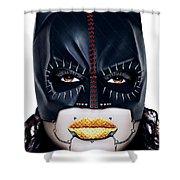 Bat Girl Shower Curtain