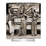 Batak Warriors In Indonesia 1870 Shower Curtain
