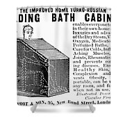 Bath Cabinet, 1897 Shower Curtain