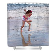 Bathing Beauty Running Shower Curtain