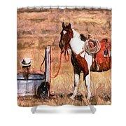 Bathing Cowgirl Shower Curtain