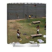 Bathing Ghats Shower Curtain