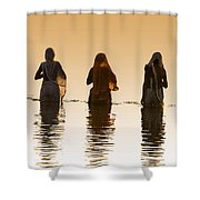 Bathing In The Holy River 2 Shower Curtain