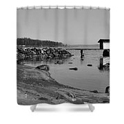 Bathing Jetty 2 Shower Curtain