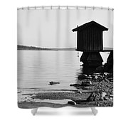 Bathing Jetty 4 Shower Curtain