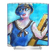 Bathing Suit Beauty Poster Shower Curtain