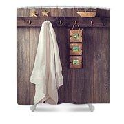 Bathroom Wall Shower Curtain by Amanda Elwell