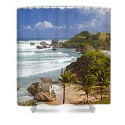 Bathsheba Beach Shower Curtain