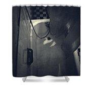 Bathtub In A Period Bathroom Shower Curtain by Edward Fielding