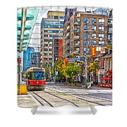 Bathurst Street Car Coming North To Queen Street Shower Curtain