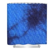 Batik In Blue Shades Shower Curtain